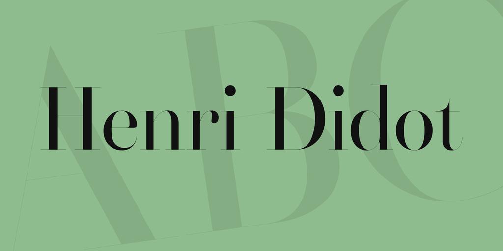 Henri Didot Font · 1001 Fonts