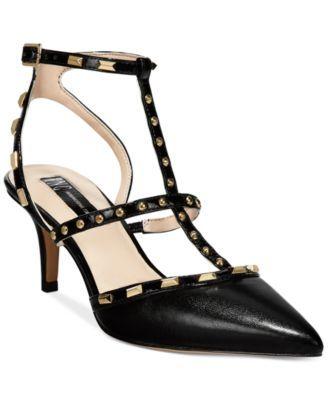 db46027cbaa INC International Concepts Carma Pointed Toe Studded Kitten Heel Pumps