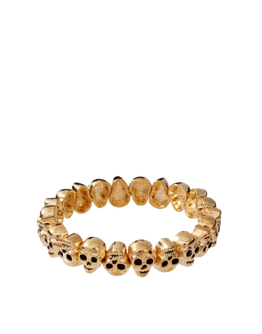 ASOS Skull Bracelet- love it in Rose gold!
