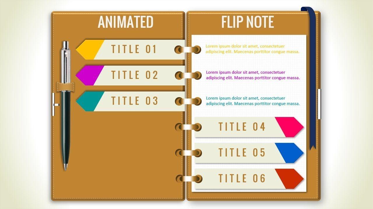 Multipurpose Powerpoint Template Flip Note Design Business Infographics P Powerpoint Presentation Powerpoint Design Templates Creative Powerpoint Presentations