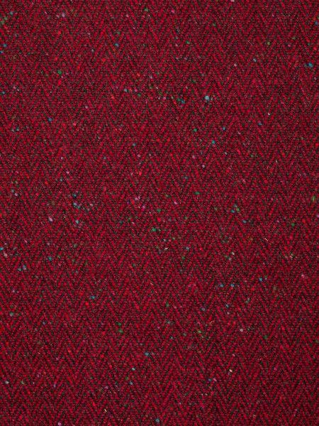 Redcurrant Revelry Donegal Tweed Herringbone Fabworks Online