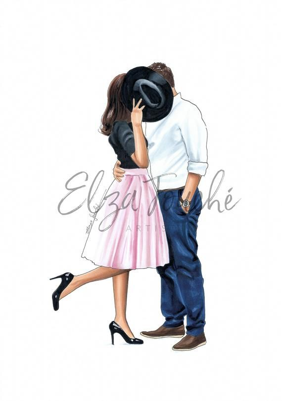 Photo of Fashion illustration – love – mr and mrs – anniversary – engagement – gifts for her – fashion sketch – anniversary gift idea – gifts for him