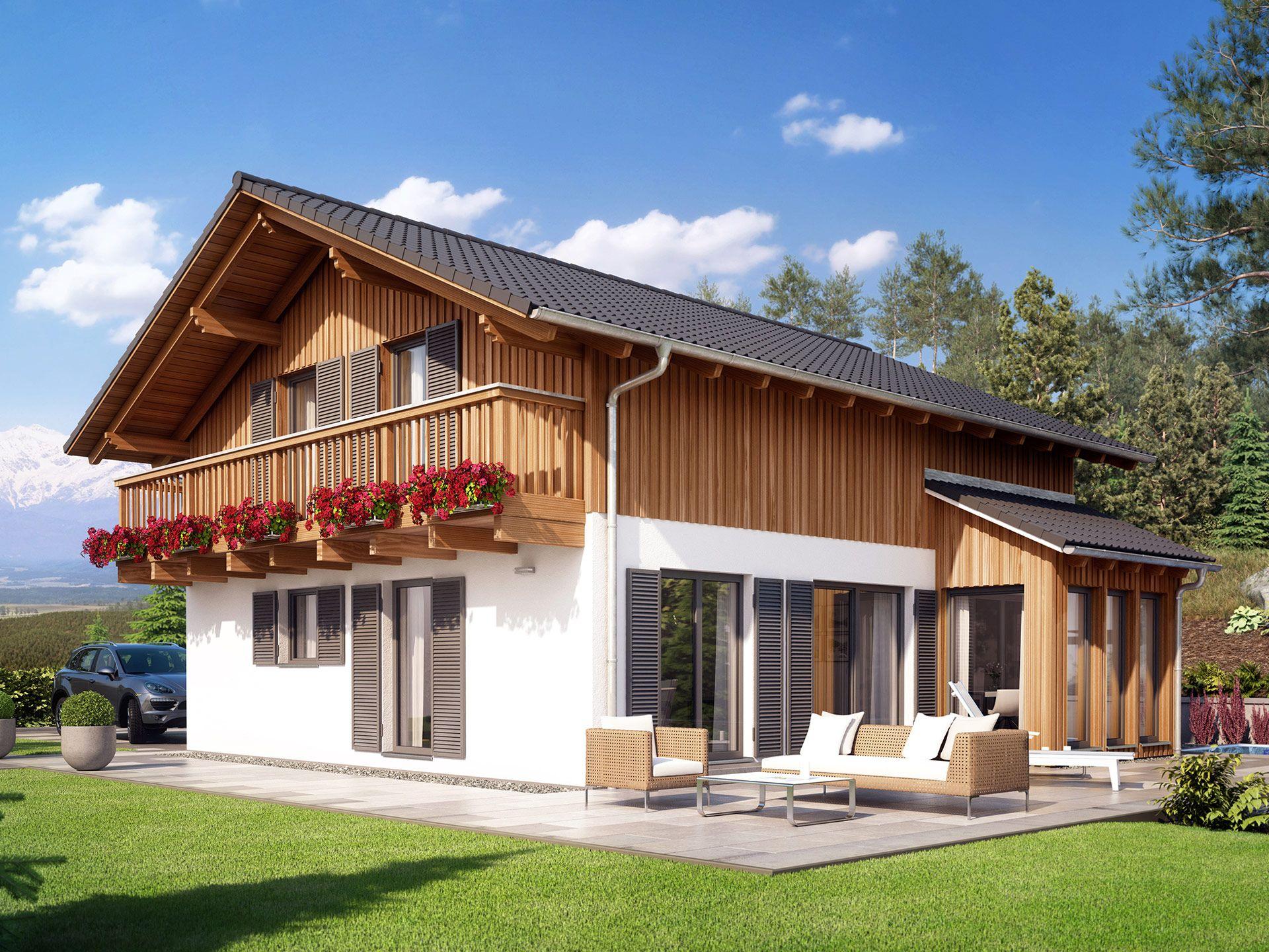 Einfamilienhaus neubau mit erker  Celebration 150 V10 – Einfamilienhaus • Holzhaus von Bien-Zenker ...