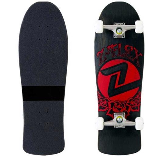 Z Flex Rose Skateboard Complete Black 99 95 Skateboard Black Flex