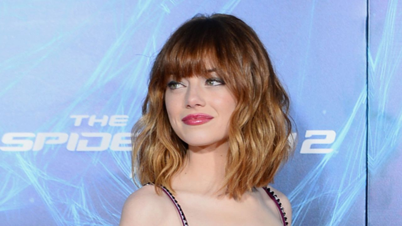 Emma stone debuts bangs at the amazing spiderman premiere starus