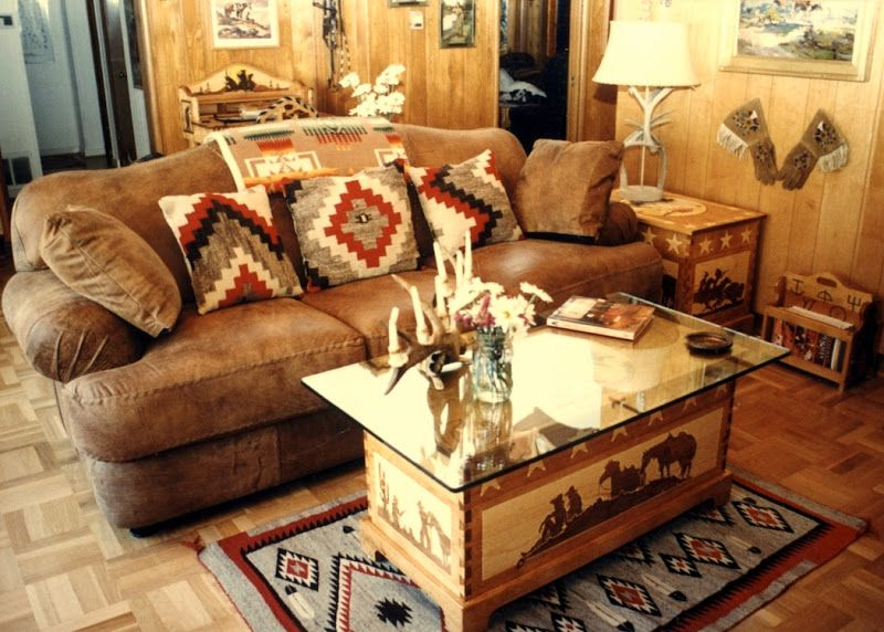 Cowboy Western Living Room Ideas (5 Image) | Rustic living ...
