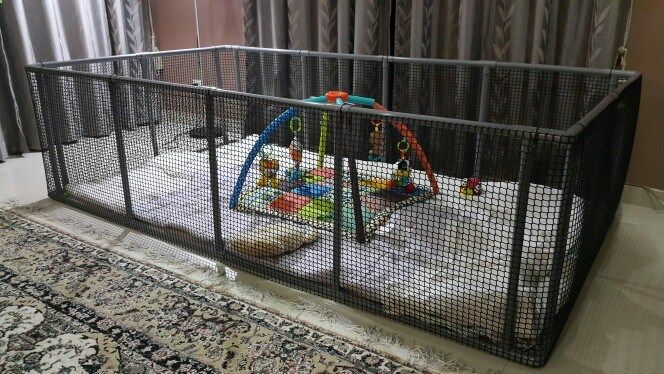 Dog Playpen Diy Playpen Made From Pvc Pipes And Netting