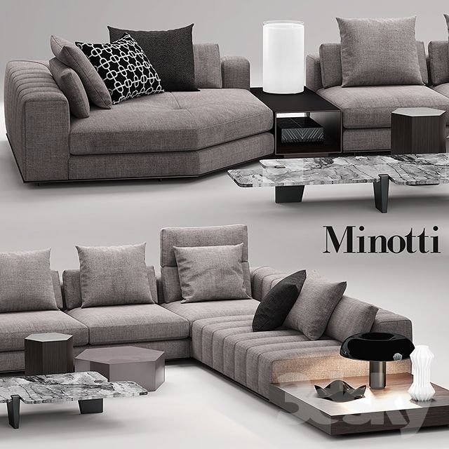3d Models Sofa Minotti Freeman Seating System Living Room Sofa Design Furniture Design Living Room Living Room Sofa Set