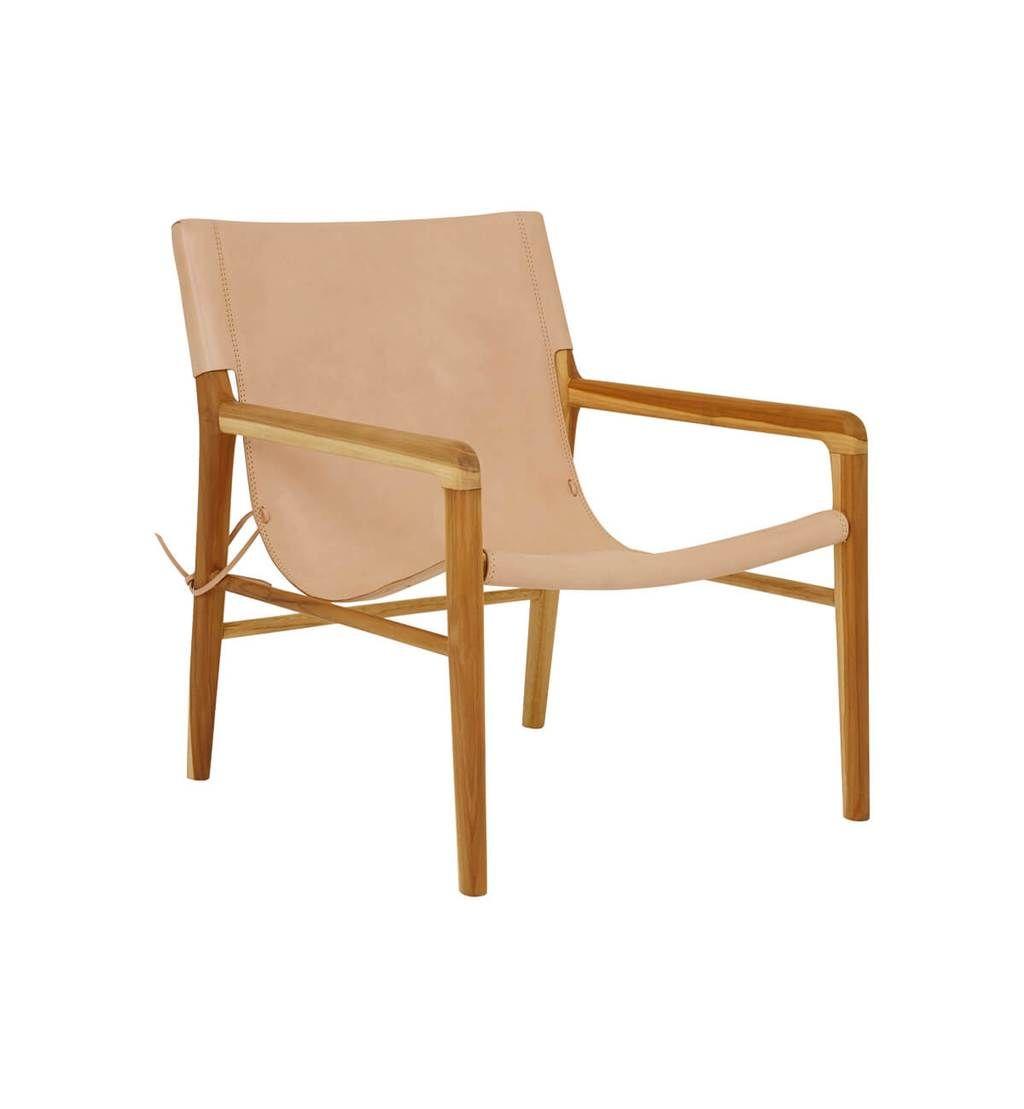Fenton Fenton Leather Sling Chair Teak Natural Leather Sling Chair Scandinavian Dining Chairs Buy Chair