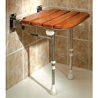 Wooden Slatted Fold Up Shower Seat 1800wheelchair
