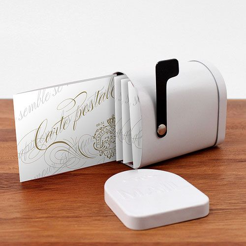 Parisian Love Letter Post Note Card with Fold - WONDERFUL WEDDING WAREHOUSE Canada