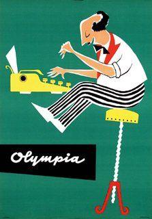 Olympia typewriters poster circa 1960