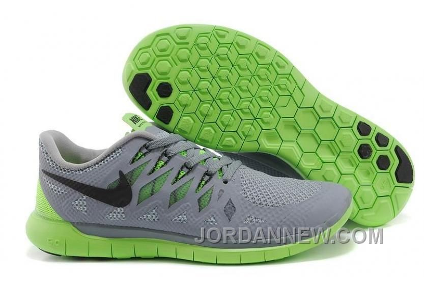 90fdd46913077 NIKE FREE 5.0 2014 MEN S RUNNING SHOE GREY GREEN AUTHENTIC Only  47.56