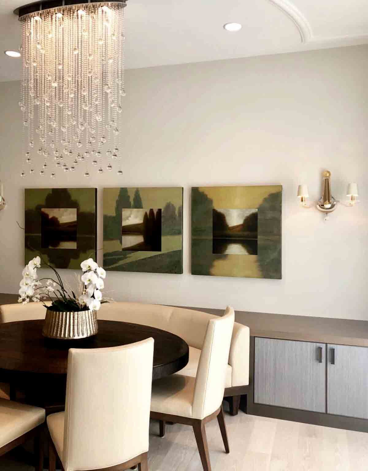 Cascade Luminaire By Boyd Lighting Set In A Contemporary Dining