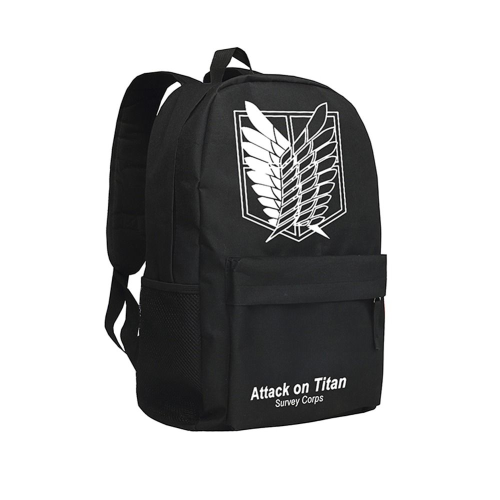 Bags for high school students - Cool Backpacks For Teenage Boys Attack On Titan Japan Anime School Bags Eren Jaeger Bookbags High