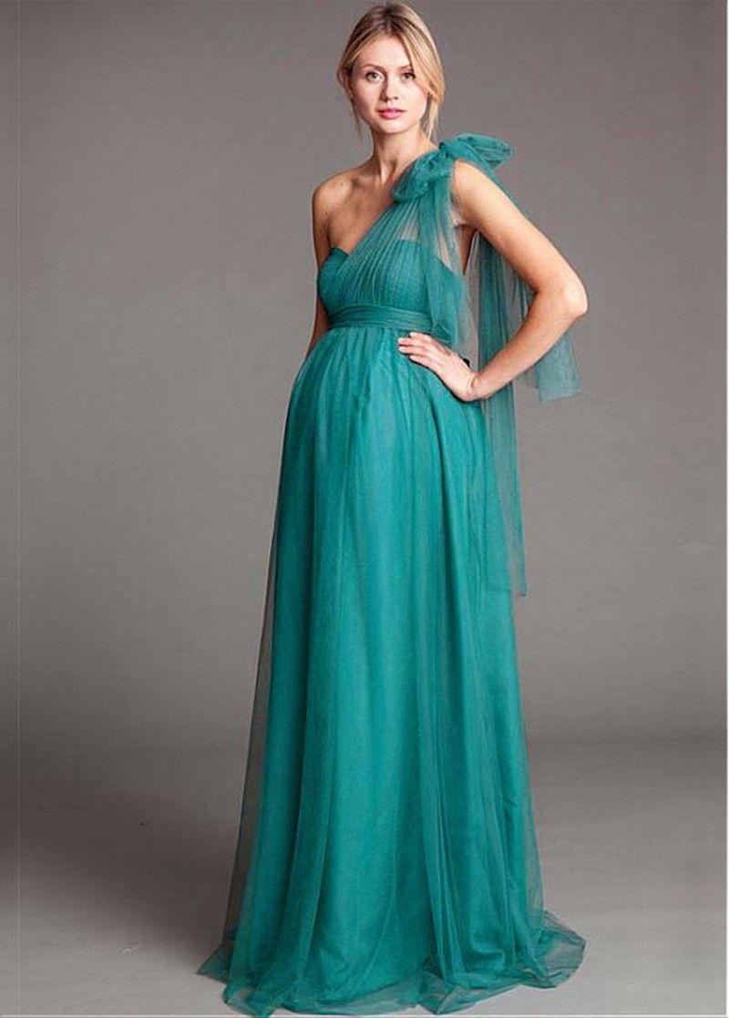 Click to Buy << wejanedress 2017 Turquoise Maternity junior ...