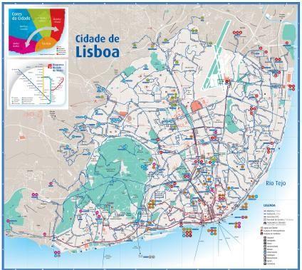Mapa Da Cidade De Lisboa Portugal Cidade Lisboa