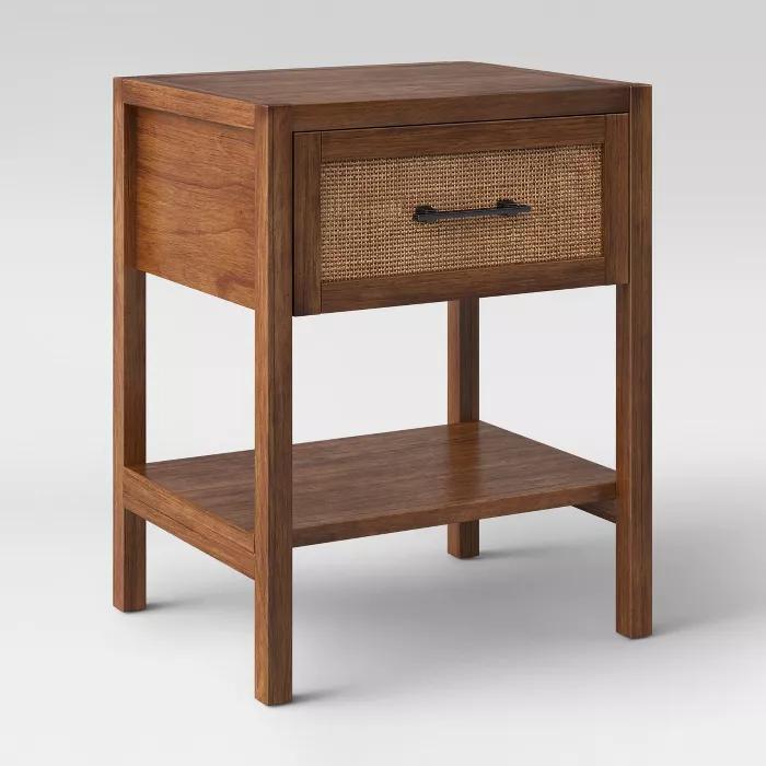 Warwick Wood & Rattan Side Table Threshold™ Target