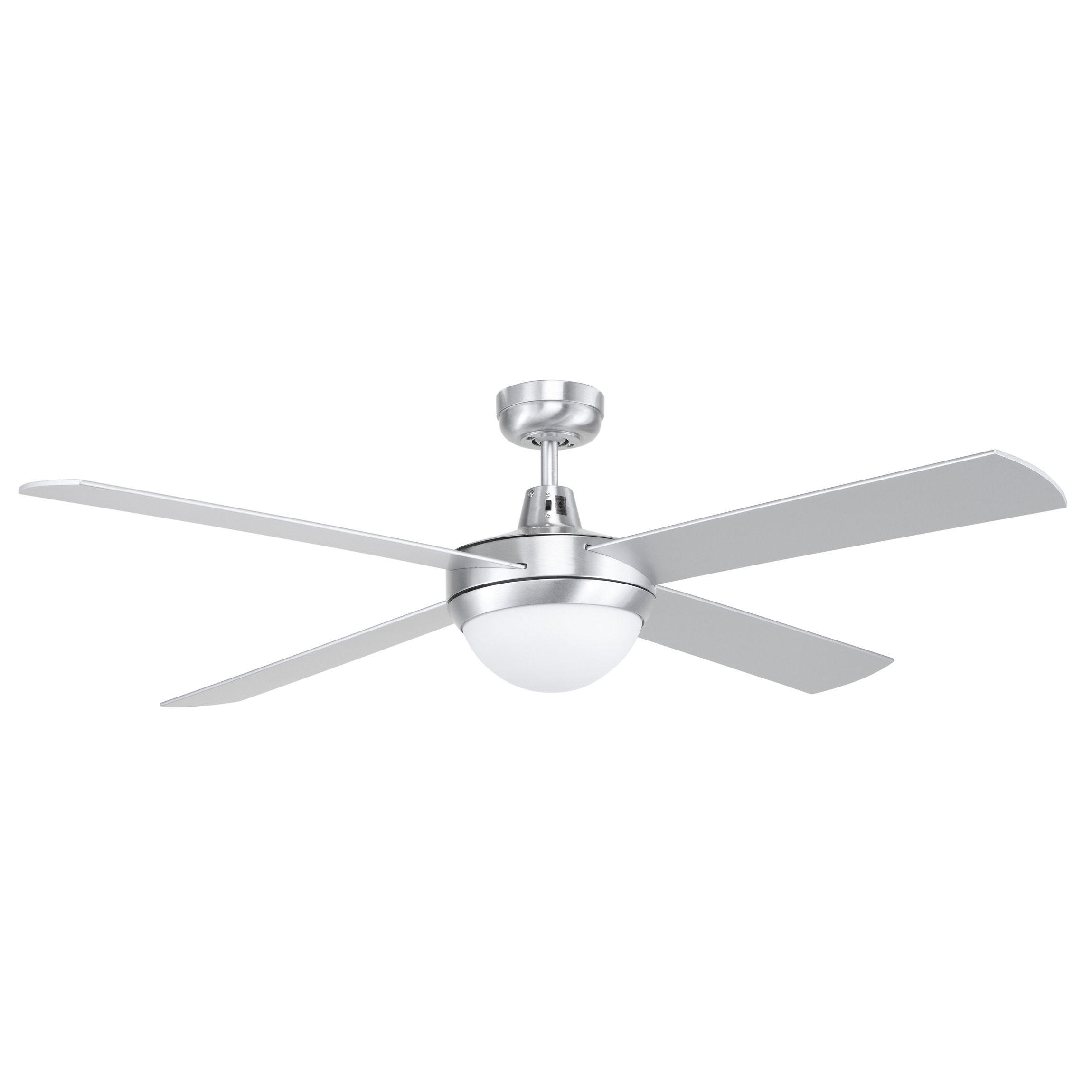 Fan Ceiling W lght Contempo Ii 18w X 2 Silver 13 Bunnings