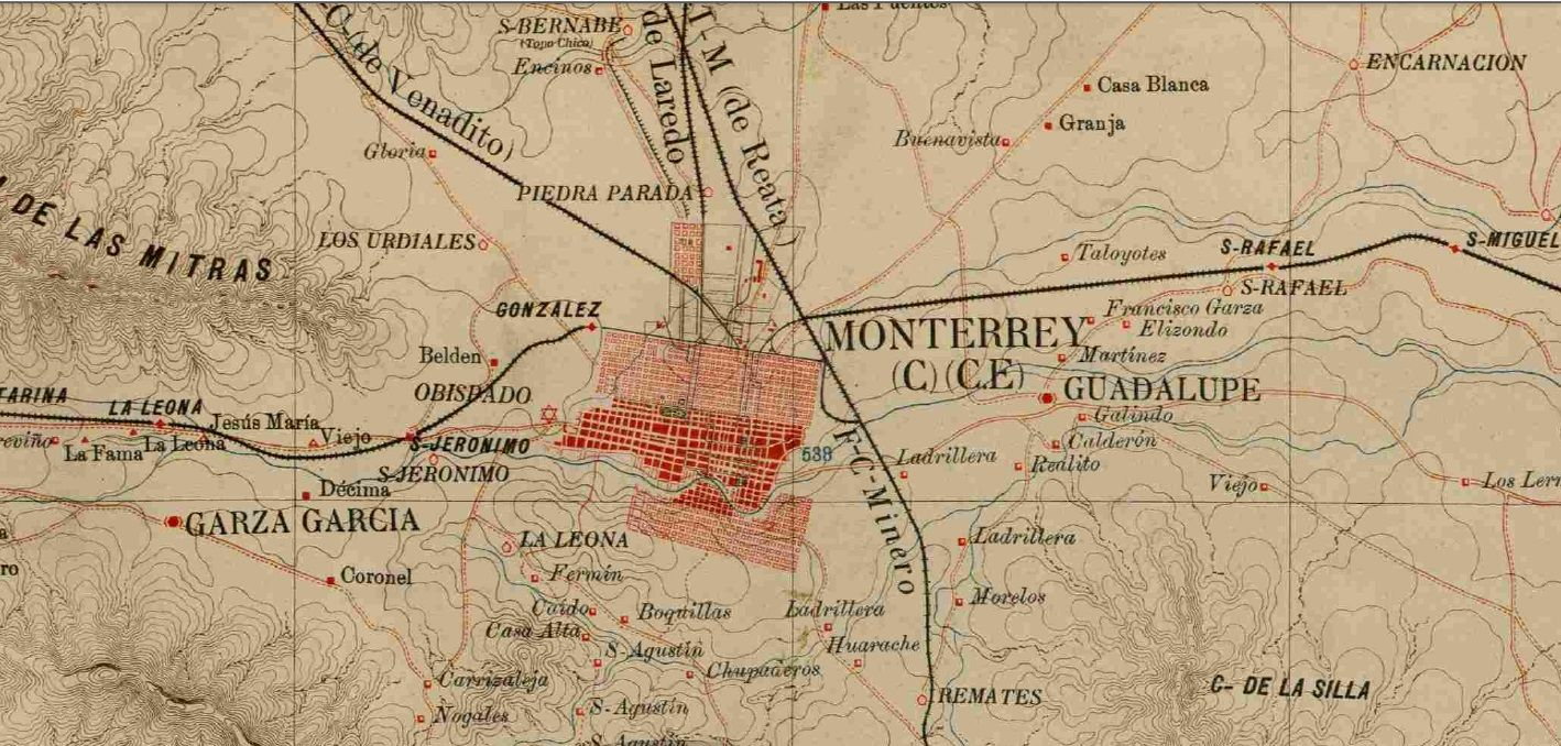 Monterrey map Mexico – Wall maps of countries for Europe |Old Monterrey Mexico Map