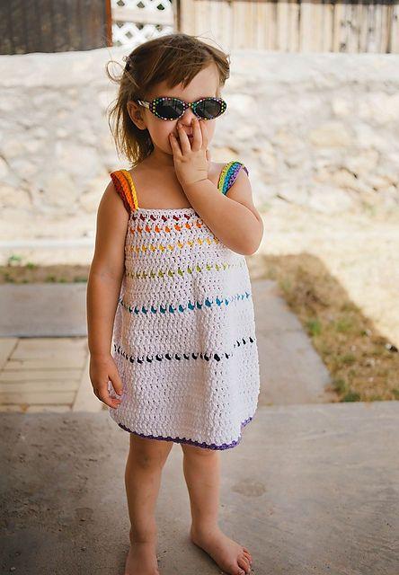 rainbow crochet kids dress pattern | Crochet Projects | Pinterest ...