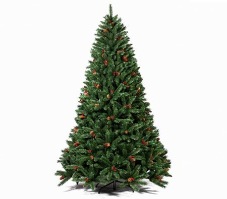 210cm Artificial Christmas Tree With Berries Christmas Tree Pine Cone Christmas Tree Christmas