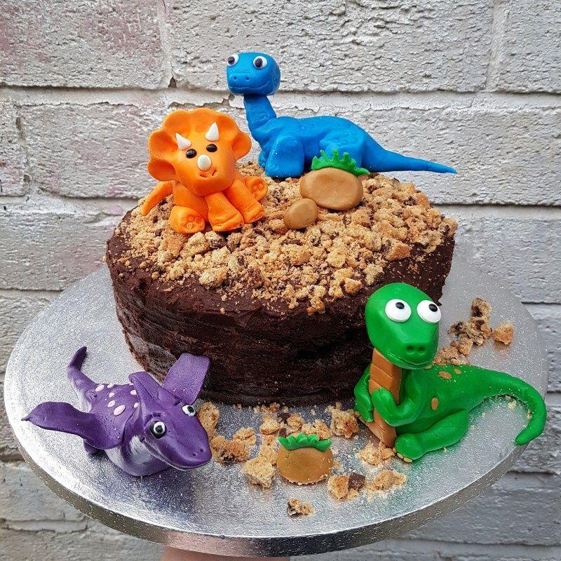 Baby dinosaur themed birthday cake cake birthday cake