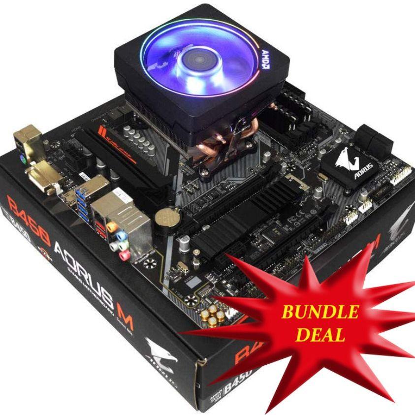 Bundle Deal Including Amd Ryzen 7 2700x 4 3ghz 8 Core Am4 Cpu Motherboard Gigabyte Amd