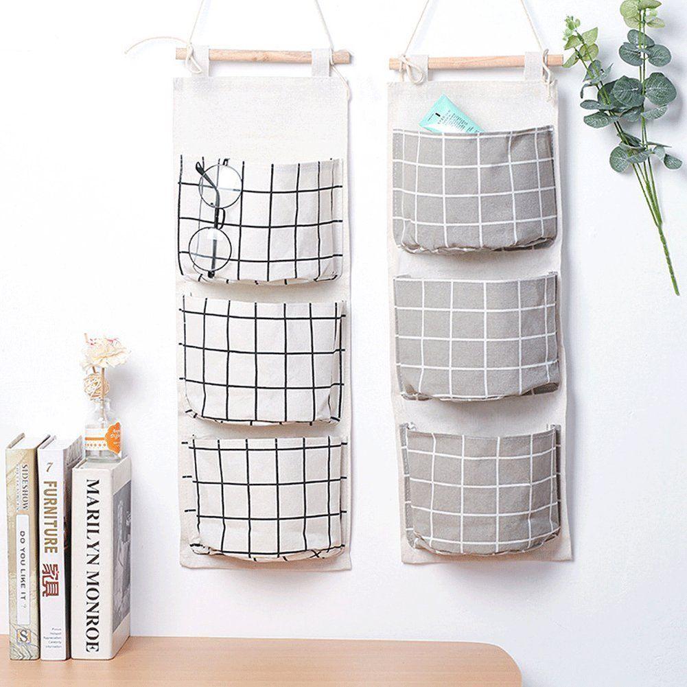 Amazon 2 Packs Linen Cotton Fabric Wall Door Closet Hanging