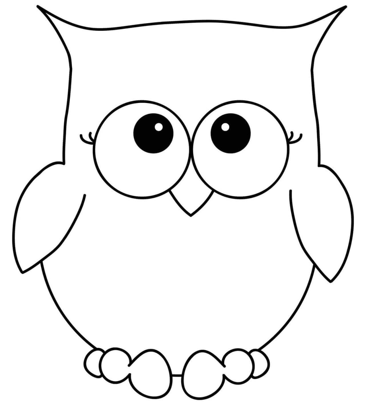 halloween-coloring-page-28 Simple Owl Drawing, Cute Owl ...