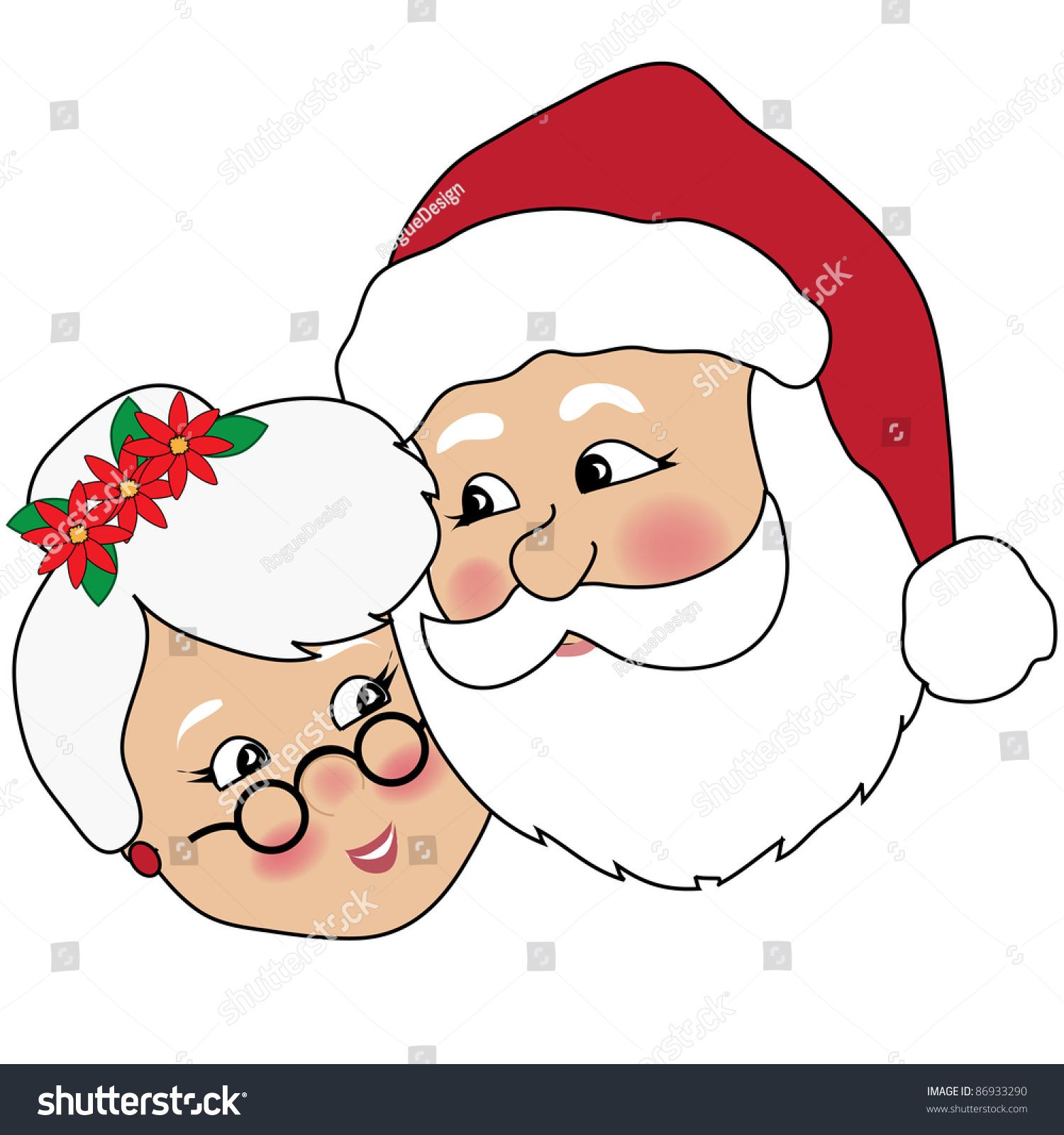 Santa and mrs claus clipart
