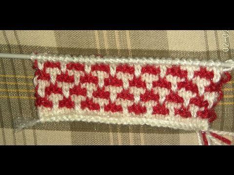 Two Color Knitting Pattern - YouTube | Video lar | Pinterest ...
