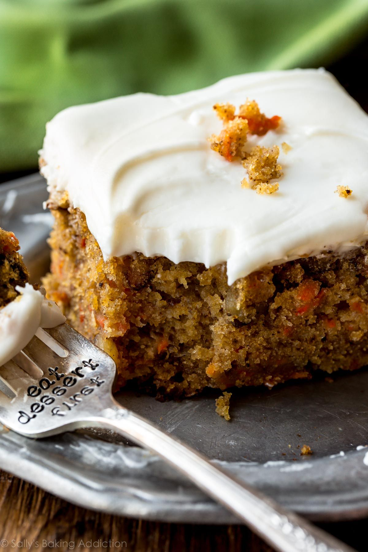 Epicurious Carrot Cake Maple Cream Cheese Frosting