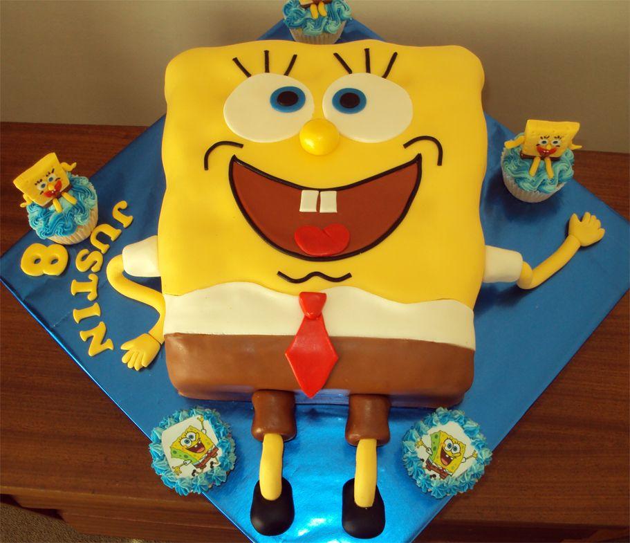 Spongebob Squarepants Birthday Cake With Images Spongebob Cake