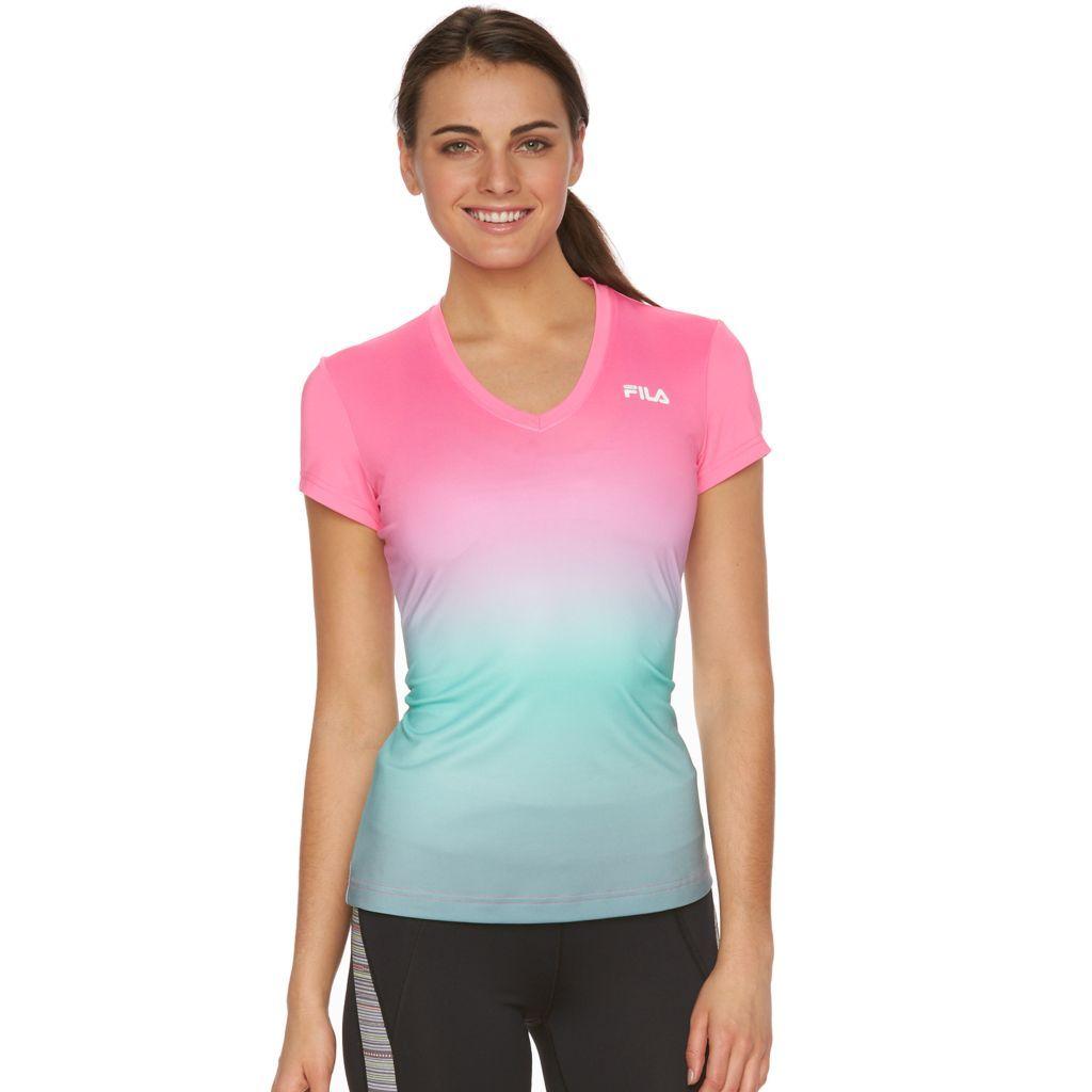 Women's FILA SPORT® Ombre Racer V-Neck Workout Tee