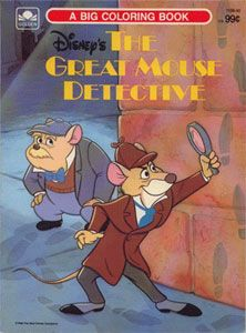 The Great Mouse Detective Big Coloring Book, 1986 | Disney ...
