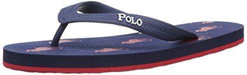 9fdc1a12e40 Polo Ralph Lauren Amino Slippers Unisex-Child Blue Blau... https