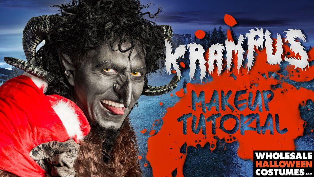 Krampus Makeup Tutorial Costume tutorial, Scary costumes