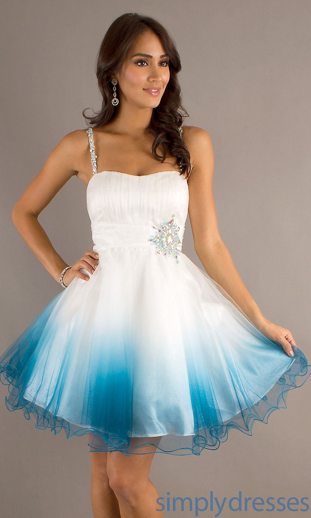 Short Spaghetti Strap Prom Dress, Party Dresses - Simply Dresses ...