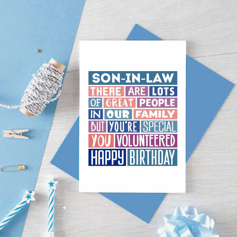 Funny birthday card for soninlaw funny card son in