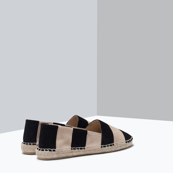 ZARA - WOMAN - STRIPED LEATHER ESPADRILLES