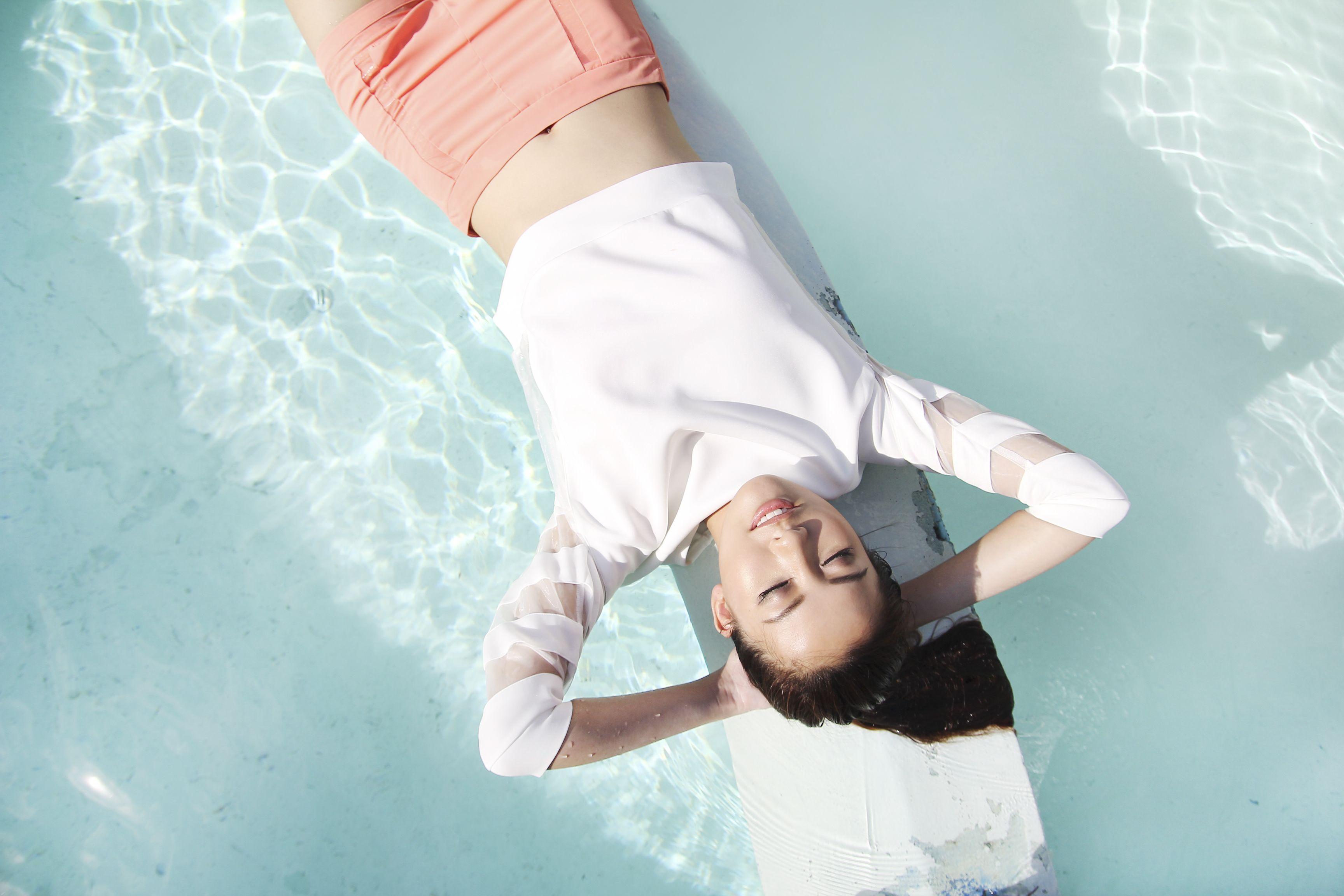 d15db67fbc5b Cheryl Wee for Klarra Bondi Organza Sweater Top & Clorri Organza Shorts