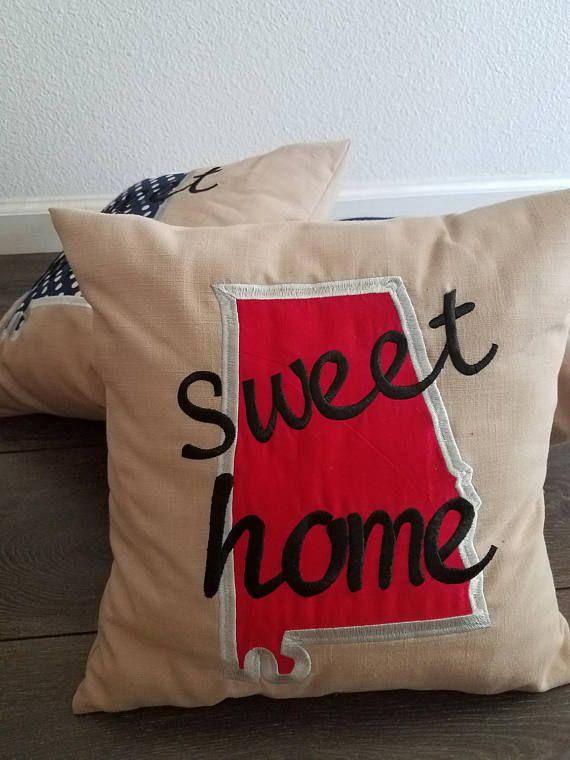 Throw Pillow Sweet Home Alabama Pillow State Pillow Home