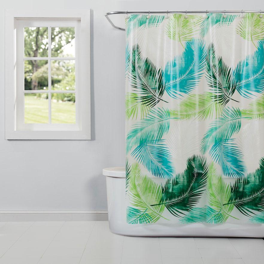 Saturday Knight Ltd Palm Peva Shower Curtain Fabric Shower