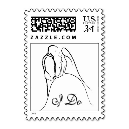 Postcard Reciting Wedding Vows Stamps