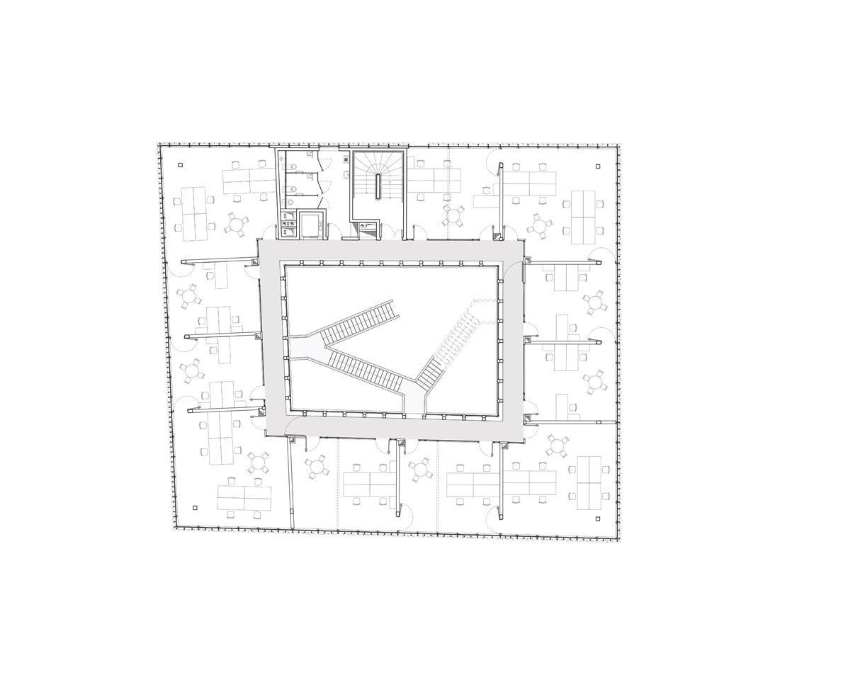 innovative office building - la licorne