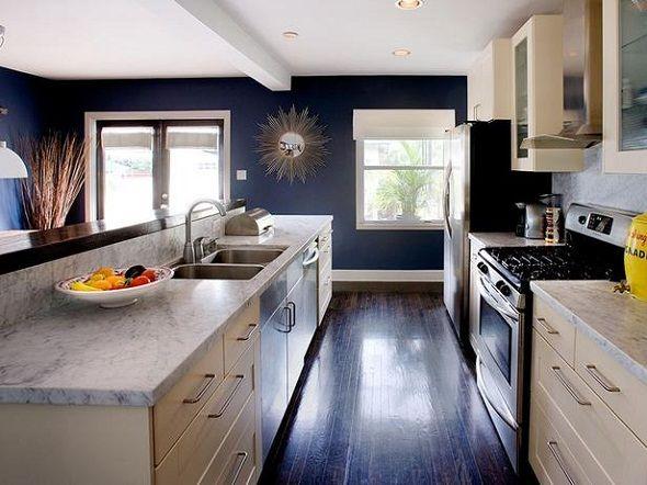 Navy Gold White Kitchen Reveal The Vintage Rug Shop The Vintage Rug Shop Home Kitchens Kitchen Design Kitchen Design Trends