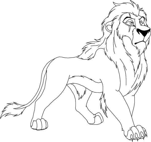 Scar From The Lion King Coloring Page Color Luna In 2020 Lion Coloring Pages Coloring Pages Photo To Cartoon