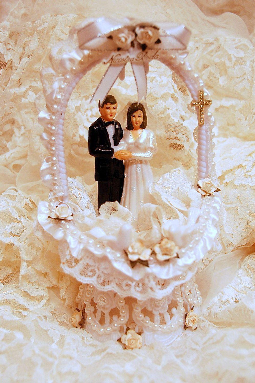 SPANISH Bride and Groom WEDDING CAKE Topper Nuestra Boda