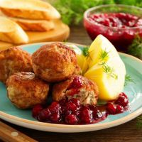 Savory Cranberry Swedish Meatballs Recipe